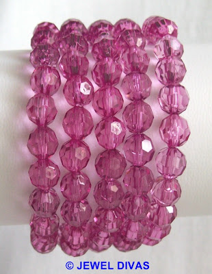 ACRYLIC CRYSTAL: Jewellery still available at Jewel Divas. And hopefully some red and green for christmas too.