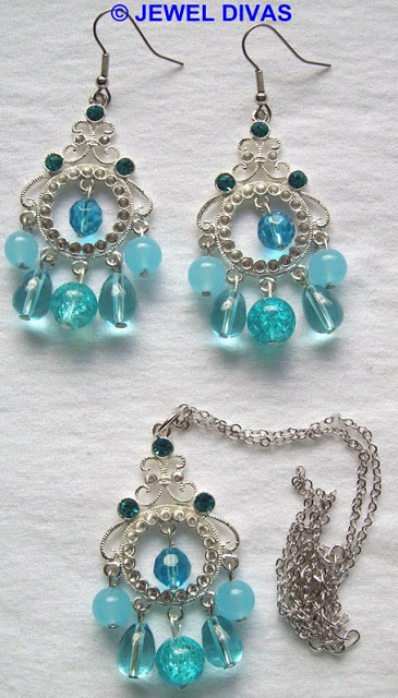 TREASURE TROVE: New Necklace and Earring set for sale at Jewel Divas!