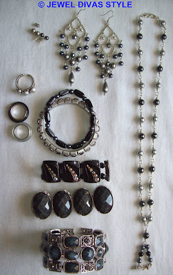 My Personal Collection: Grey/Silver jewellery
