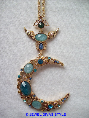 GOLD+-+NECKLACE+-+MOON+-+7.09+EBAY