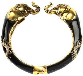DESIGNER INSPIRED: How to find your own inexpensive version of Samantha Wills Tusk Dynasty elephant bangle.