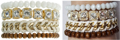 """DESIGNER INSPIRED: How to make your own version of Samantha Wills """"All of the Lights"""" bracelet stack"""