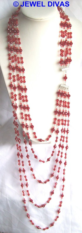 AC CHERRY 5 row necklace