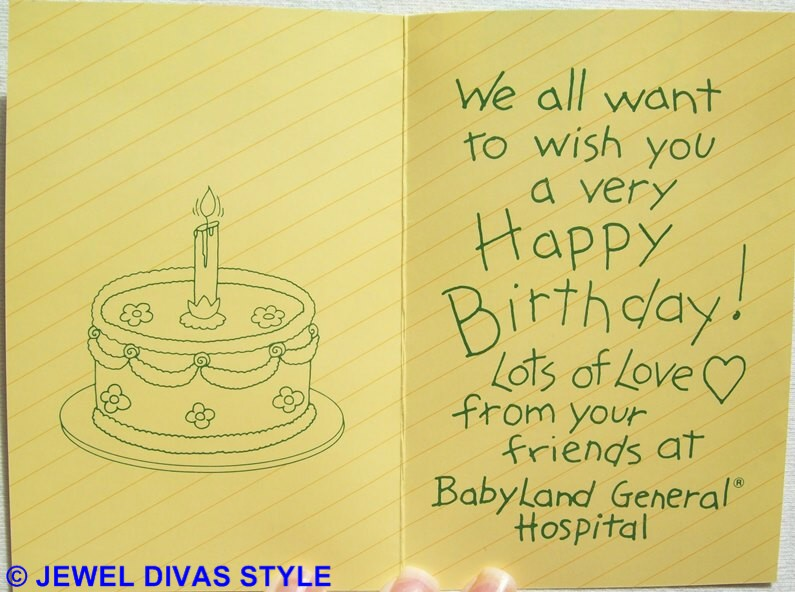 CABBAGE PATCH KID FIRST BIRTHDAY CARD