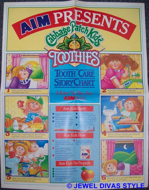 CABBAGE PATCH KID TOOTHIES POSTER
