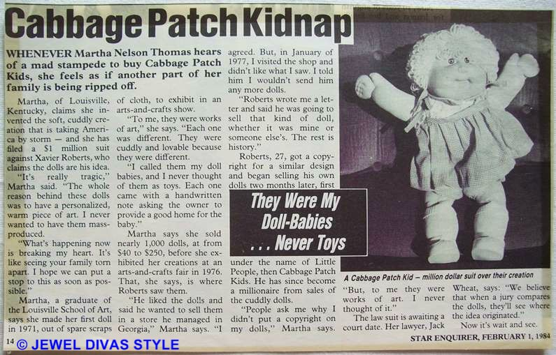 CABBAGE PATCH KIDNAP