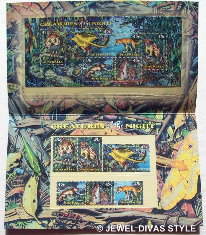 CREATURES OF THE NIGHT STAMPS