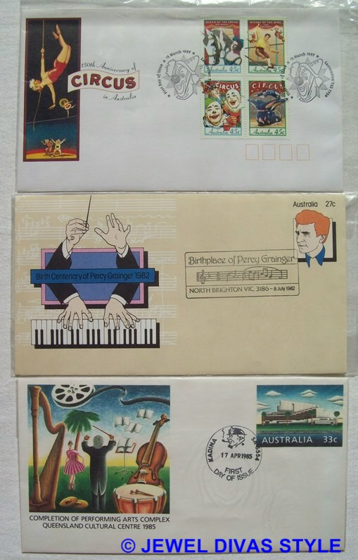 CIRCUS AND MUSIC ENVELOPES