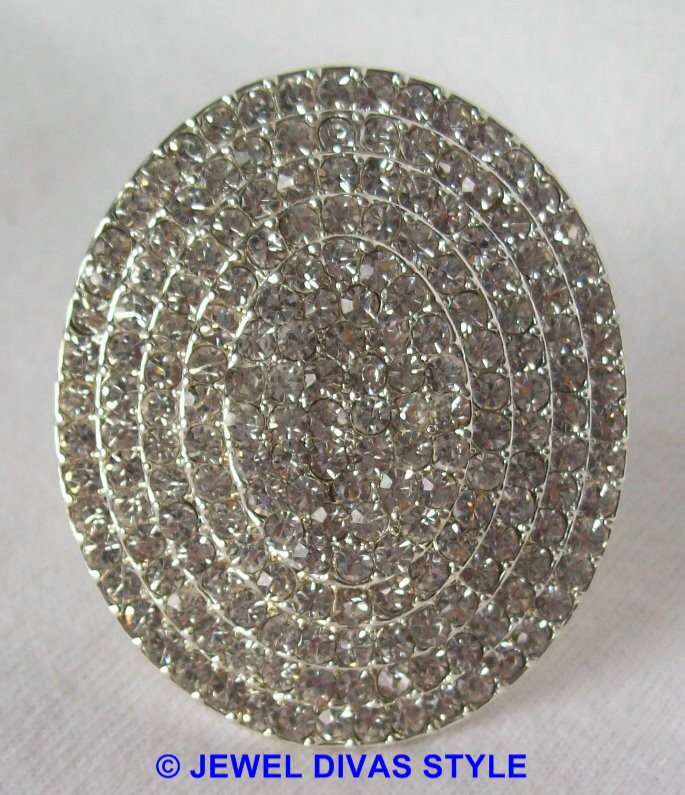 big crystal ring