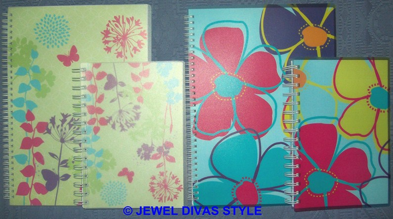 floral folders and notebooks