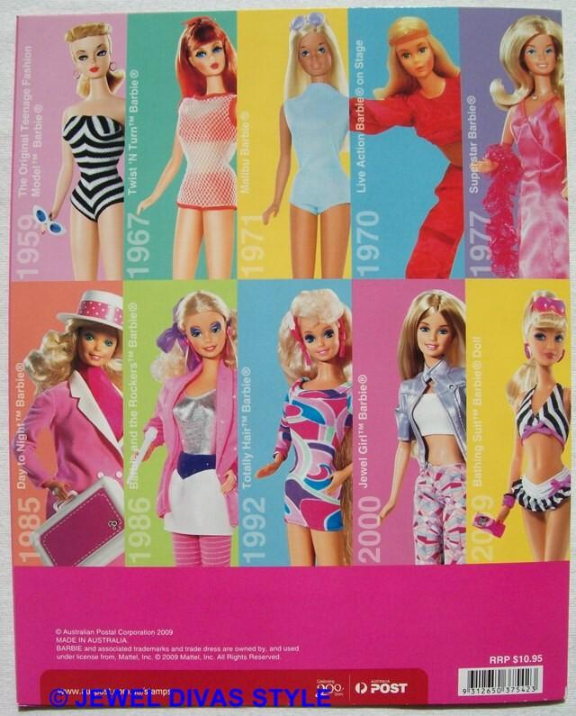 Barbie stamps