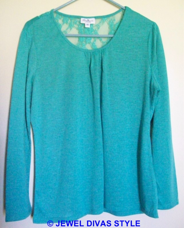 Millers green lace top