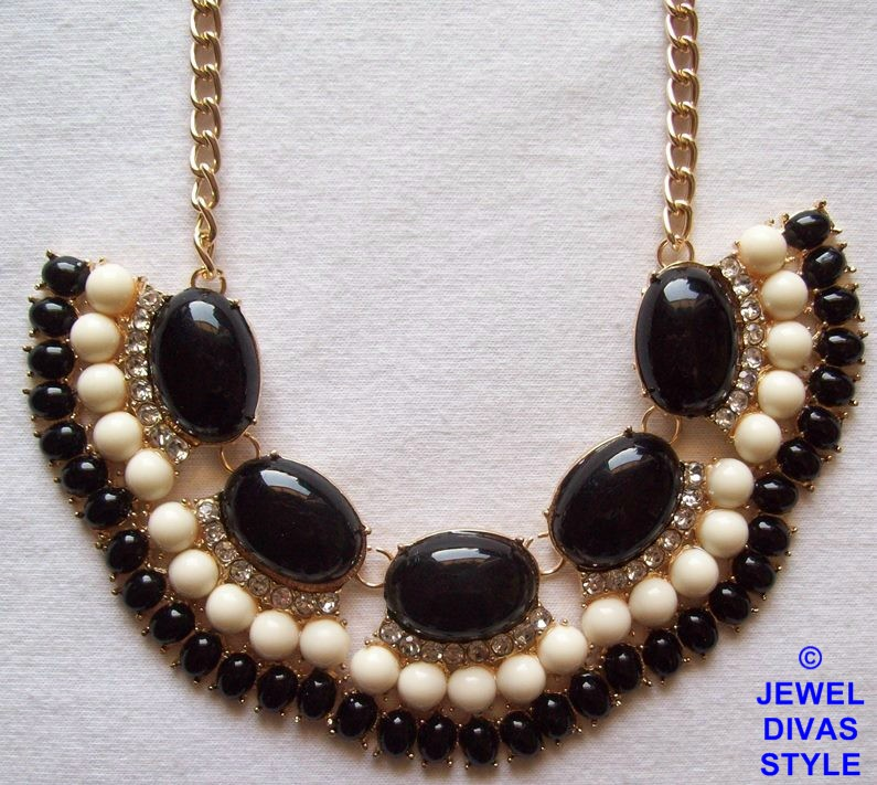 Black and white ebay necklace