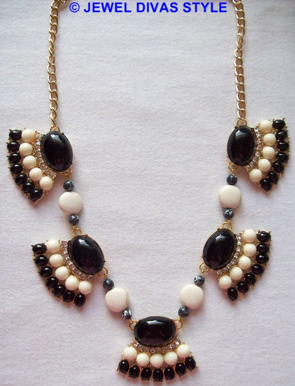 black and white ebay necklace remade the Jewel Divas way!
