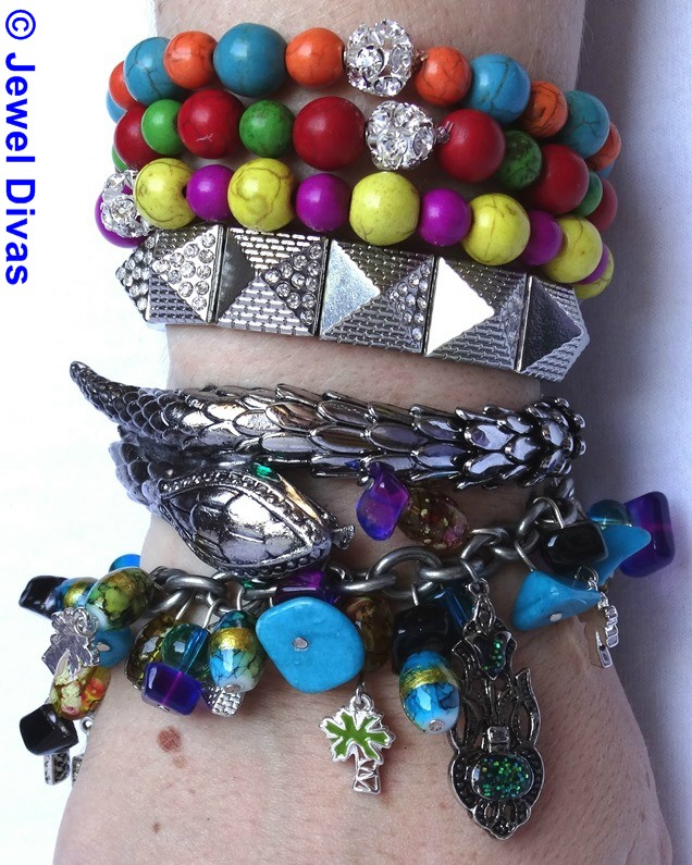 JEWEL DIVAS EGYPT ON THE NILE BRACELET STACK