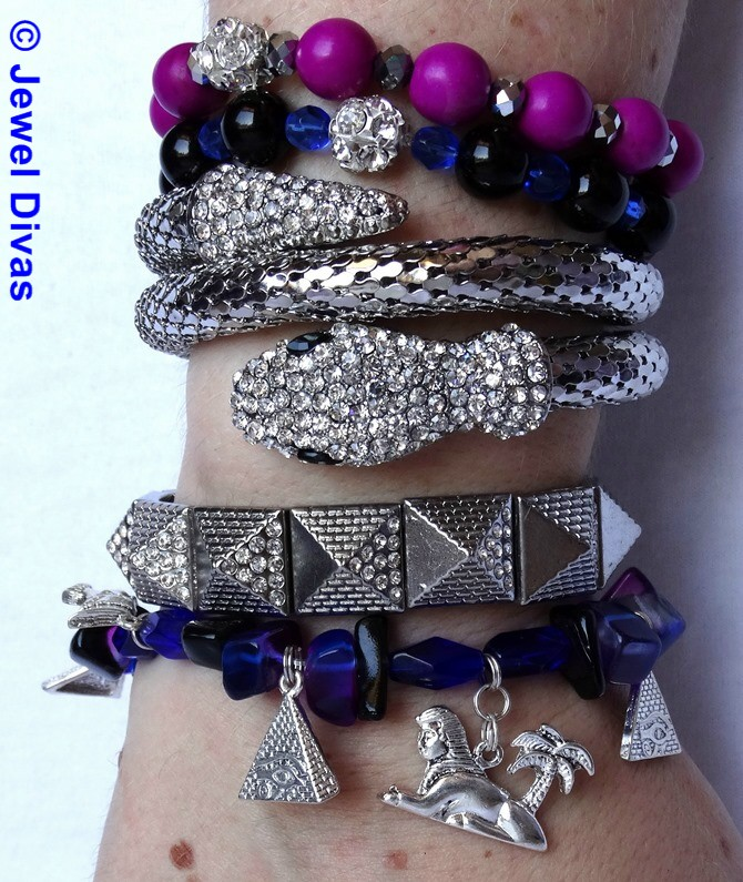 JEWEL DIVAS EVIL EYE BRACELET STACK