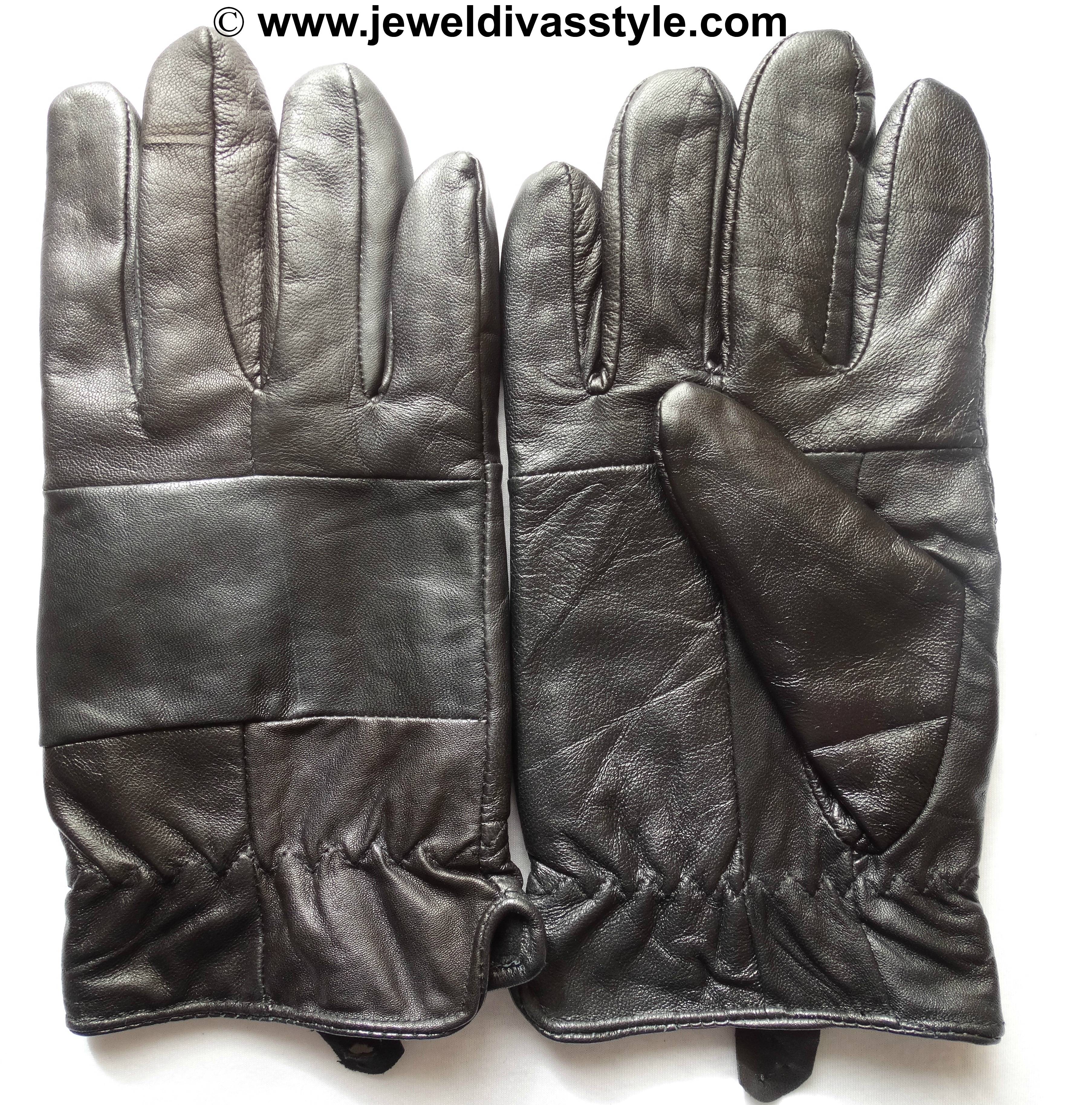 KMART BLACK LEATHER GLOVES