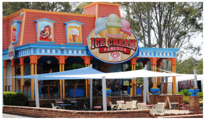 Dreamworld's Ice Cream Parlour