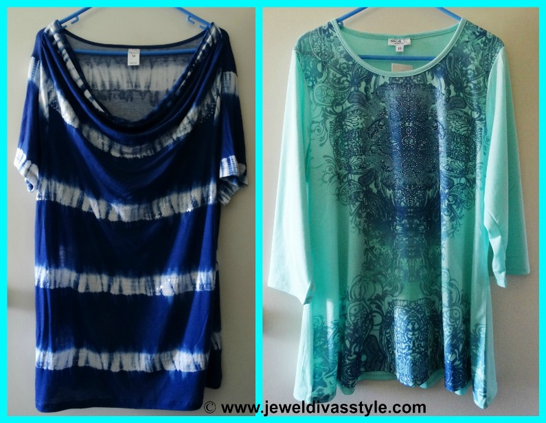 JDS PERSONAL COLLECTION BLUE GREEN TOPS