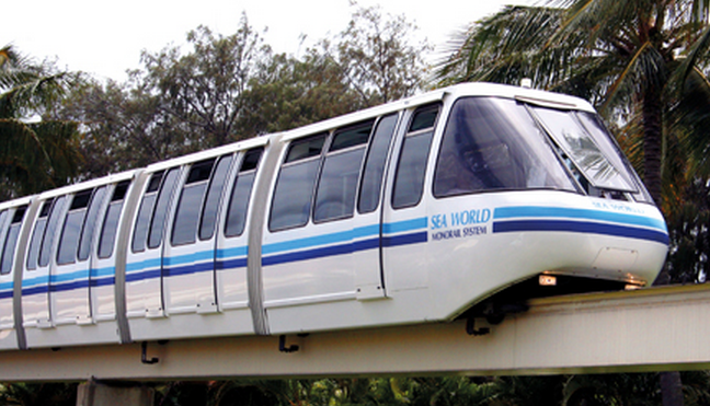 SEAWORLD'S MONORAIL
