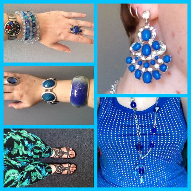 MY STYLE: Blue Studs and Floral Print