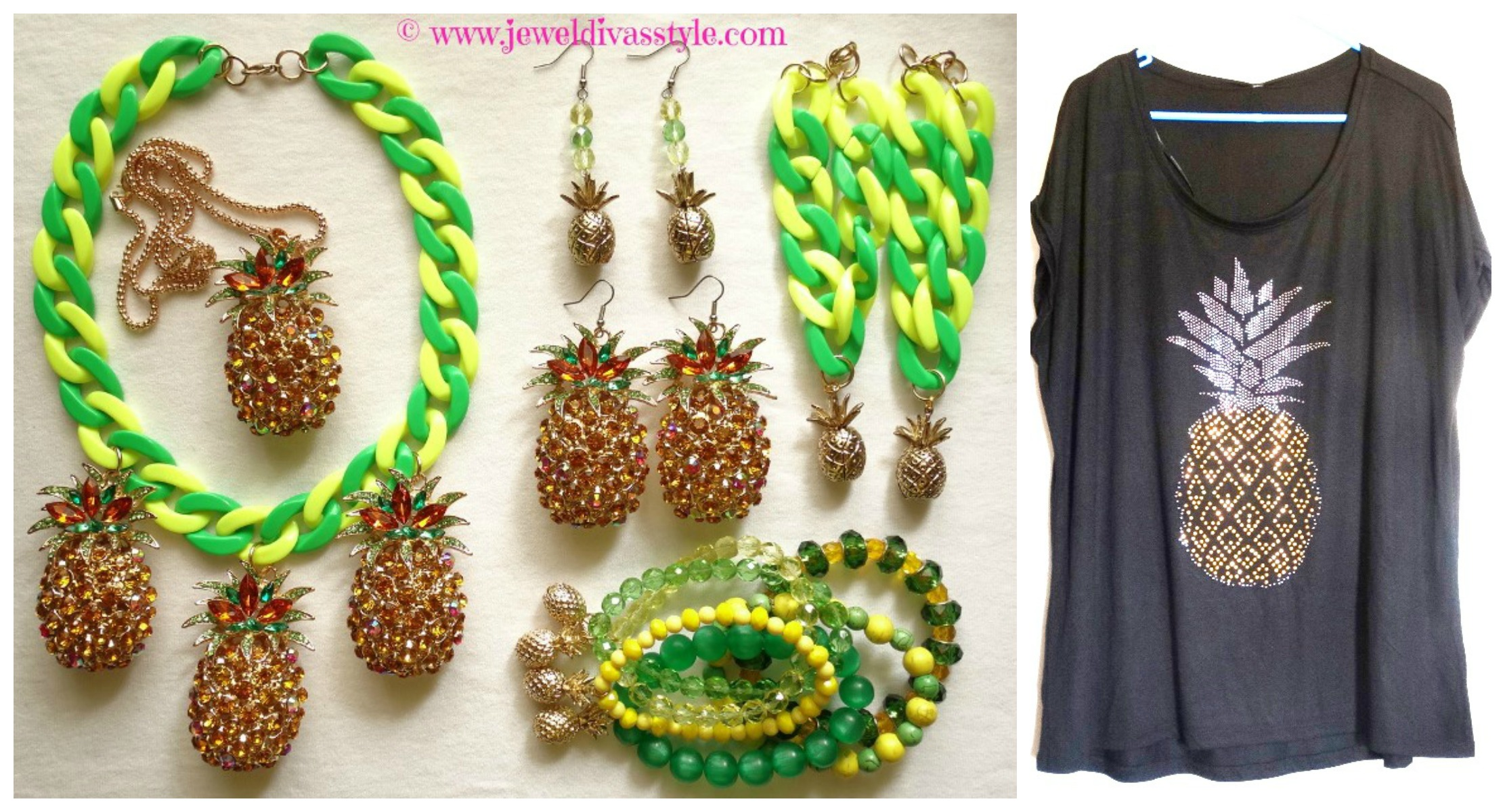 JDS - PINEAPPLE SET AND TOP
