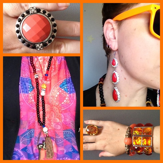MY STYLE: Rocking Orange and Red Sequins