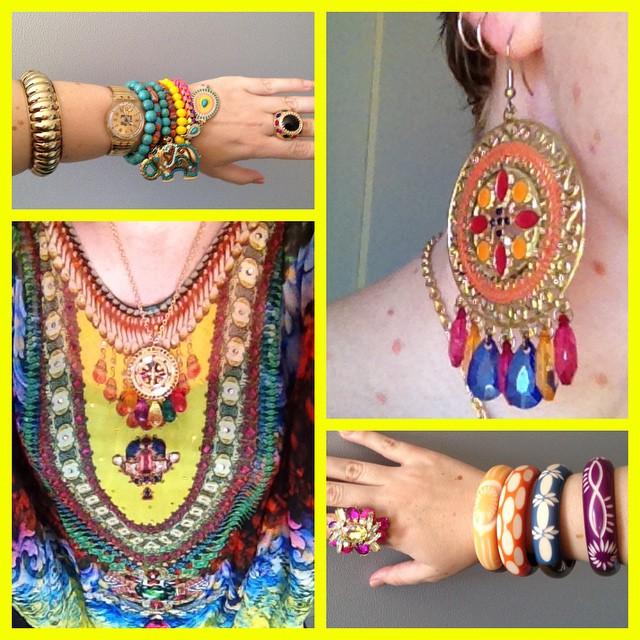 MY STYLE: Jewel Tone Kaftan and matching jewels.