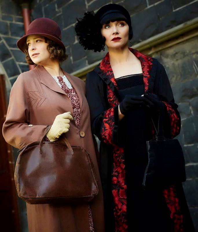 JDS - MISS FISHER'S RED EMBROIDERED COAT