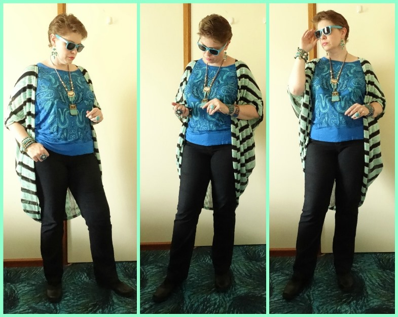 MY STYLE: Black stripes and Mint swirls
