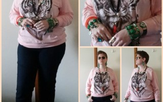 MY STYLE: Green Eyed Tiger in a Peach Sorbet