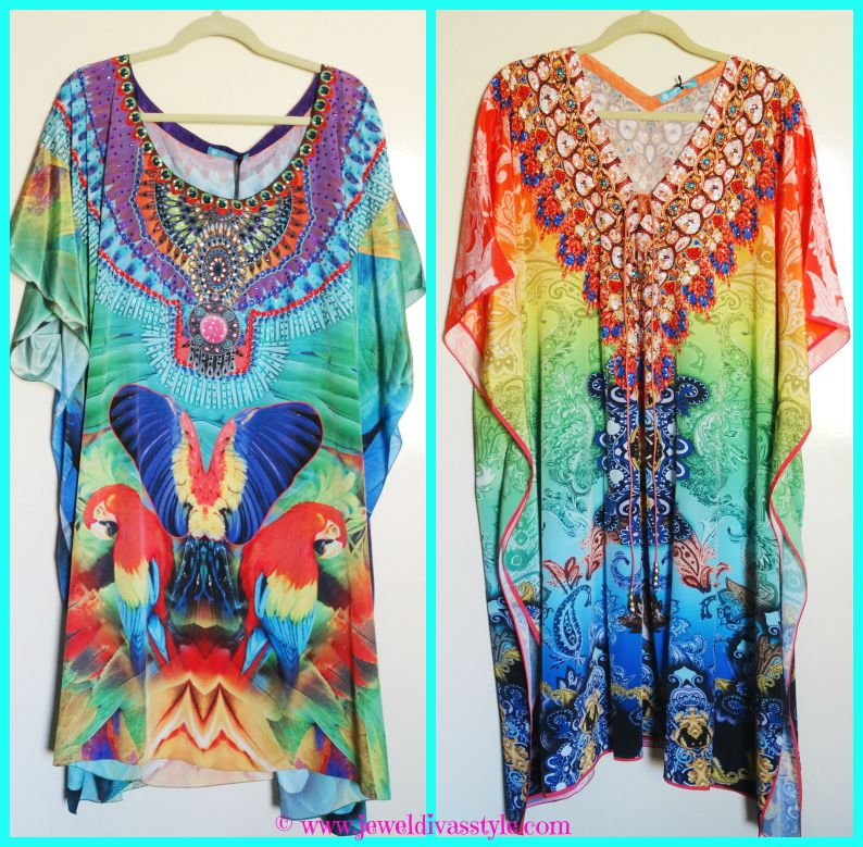 JDS - TROPICAL KAFTANS BIRDS AND RAINBOWS
