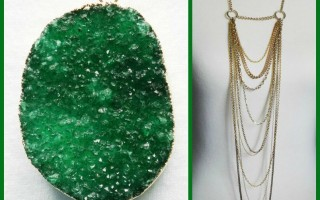 DESIGNER INSPIRED: Emerald Lights Necklace