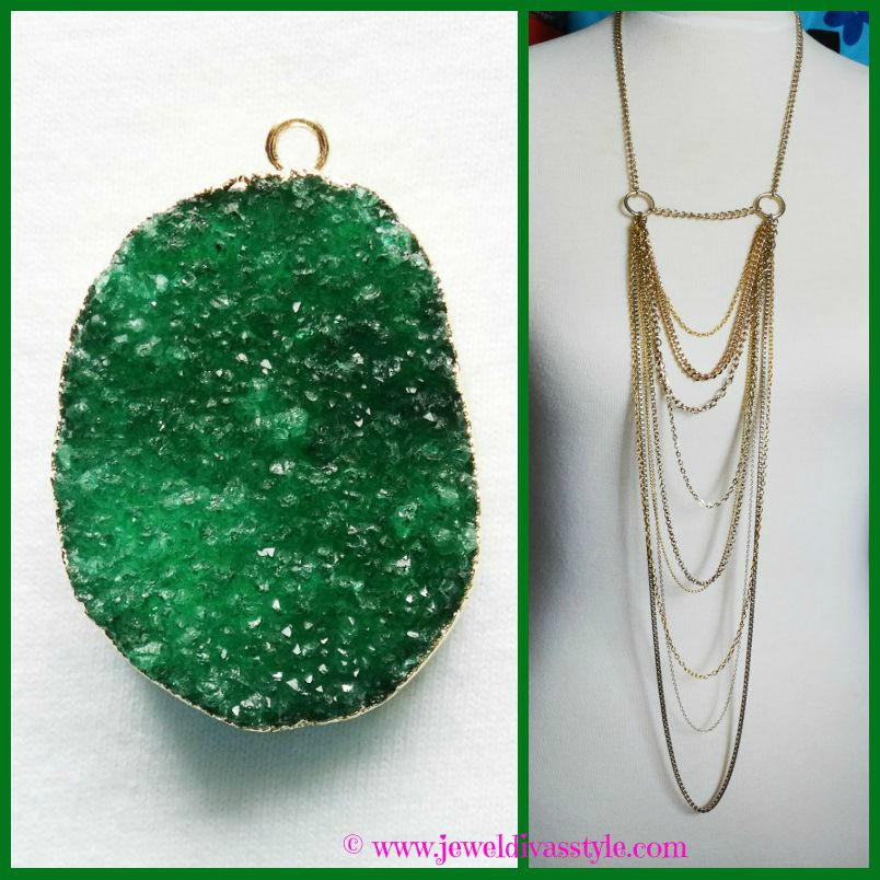 JDS - EMERALD LIGHTS NECKLACE