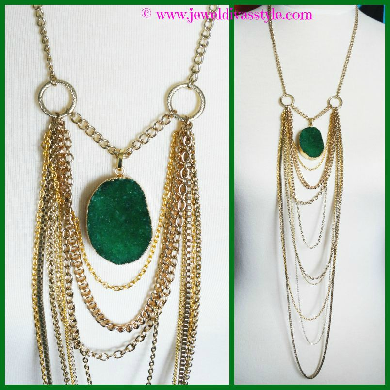 JDS - EMERALD LIGHTS NECKLACE 2