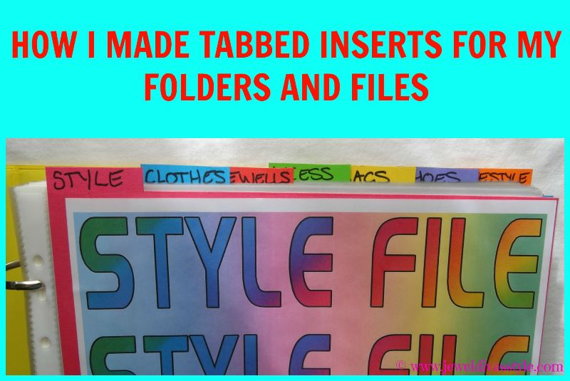 JDS - HOW TO MAKE TABBED INSERTS