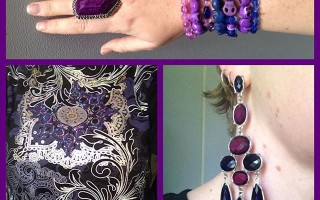 MY STYLE: Purple Swirls, Silver Metallic and Floral Sparkle