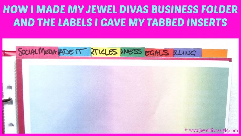 JDS - JEWEL DIVAS BUSINESS FOLDER