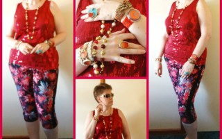 MY STYLE: Cherry Red Sequins and Palm Trees