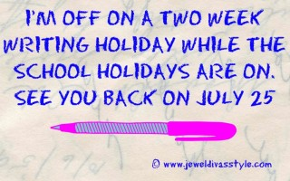 I'm off on another writing holiday!