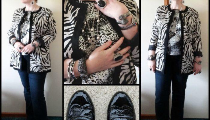 MY STYLE: Silver Zebra print