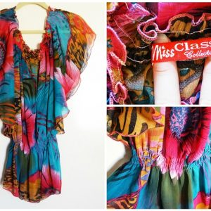 2 OFF SHOULDER TROPICAL - PREOWNED