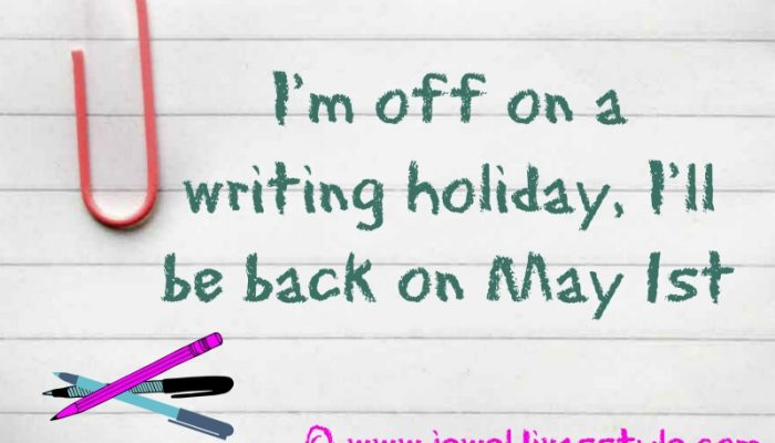 My first Writing Holiday for 2017
