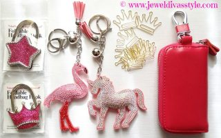 Going Crazy for pom pom key rings and all things crowned