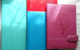 Turning old diary covers into compendiums and writing folders