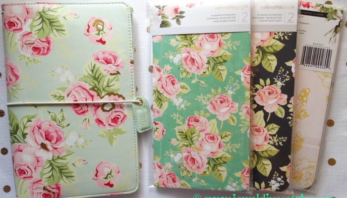 Webster's Pages mint and pink floral travellers notebook
