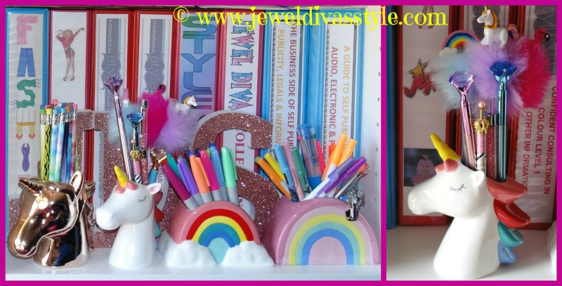 I am a stationery junkie unicorn and rainbow pen holders middle ones from kmart for 3 each goes with my typo ones reheart Choice Image