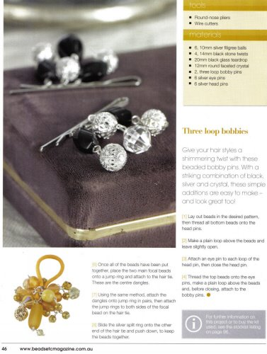 PRESS & PUBLICITY: My Hair Accessories appeared in Beads Etc….Magazine May 2009
