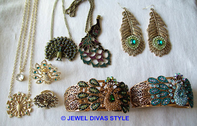 GOLD+-+SET+-+PEACOCK+-+79.39+EBAY-MADE