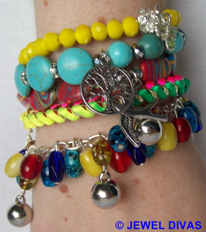 "JEWEL DIVAS ""CALIFORNIA DREAMIN'"" BRACELET STACK"
